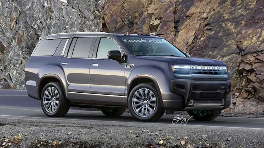 GMC Hummer EV Imagined As A Three-Row SUV