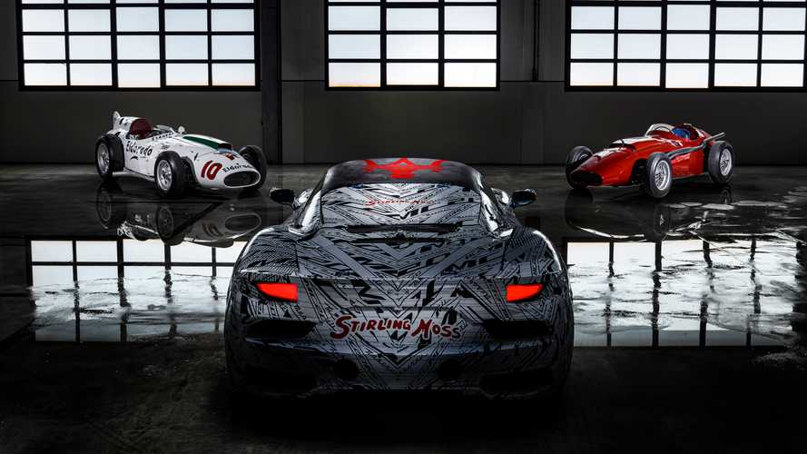 Maserati reveals Stirling Moss MC20 tribute