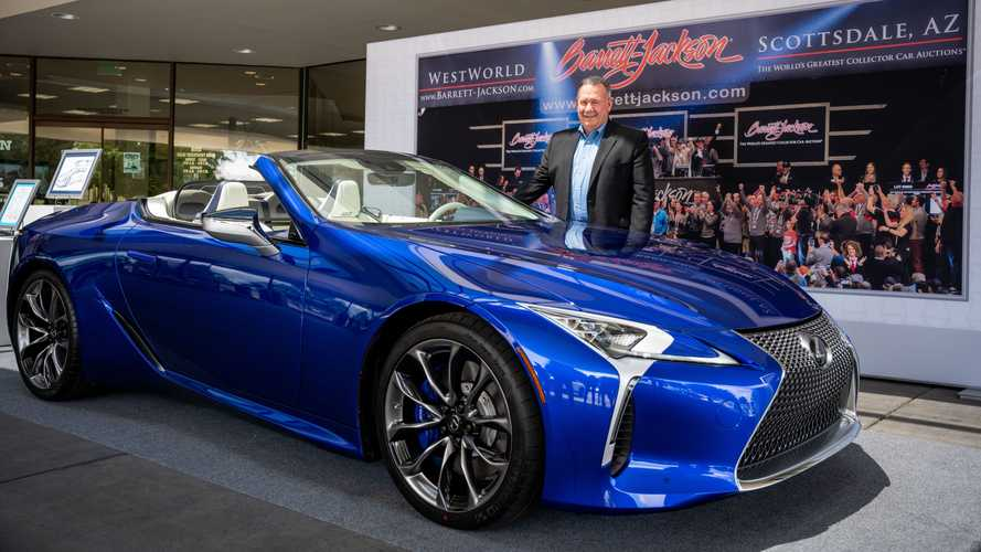 Lexus LC 500 Convertible Charity Delivery