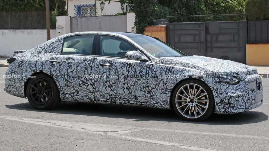 New Mercedes C-Class spied possibly testing in AMG C53 guise