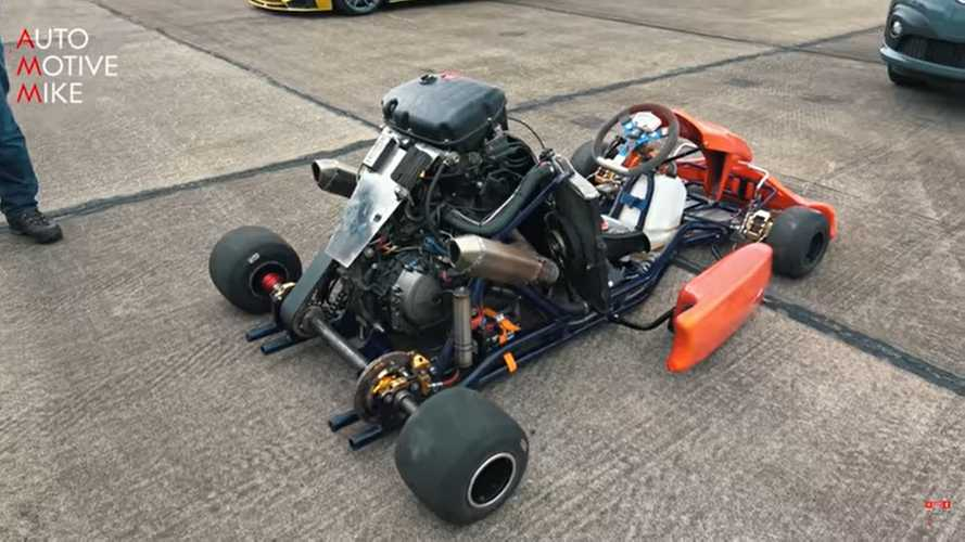 Listen To A Honda CBR1000RR Fireblade-Powered Go Kart At Work