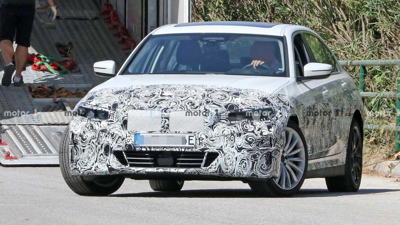 BMW 3-as sorozatú Elektromos Spy Fotók Front 3/4