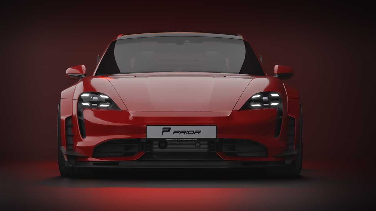Porsche Taycan Turbo S by Prior Design (front)