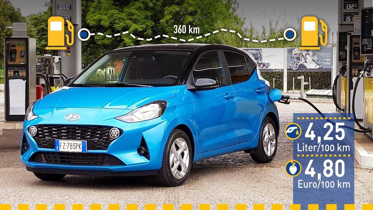 Hyundai i10 (2020) im Verbrauchstest
