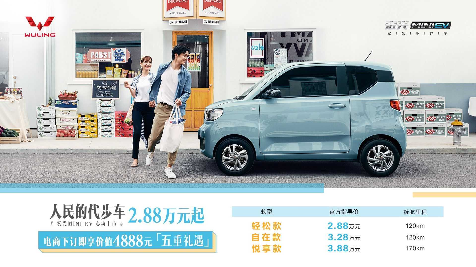 GM-Related Wuling Hong Guang MINI EV Priced In China From ...