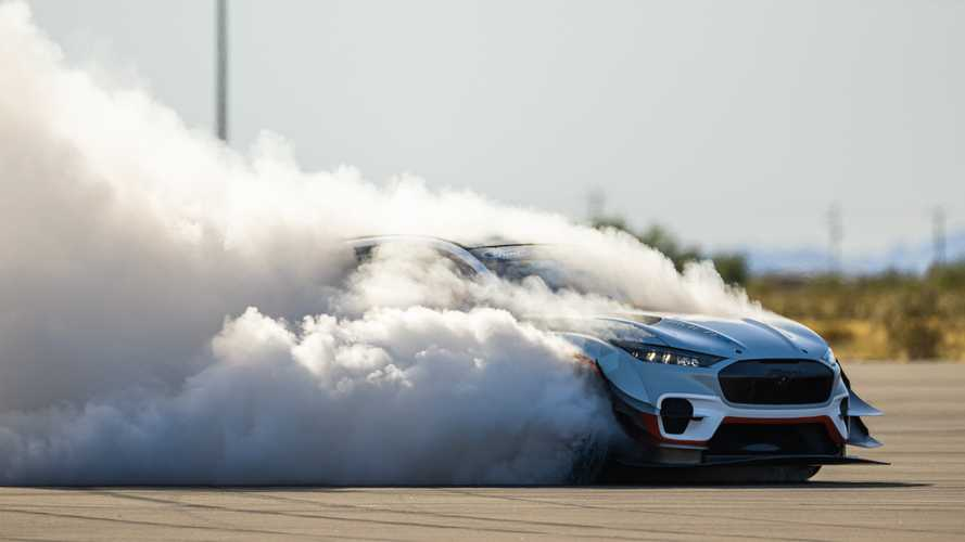 Crazy Mustang Mach-E Tire-Killing Machine Teased By Ford Performance