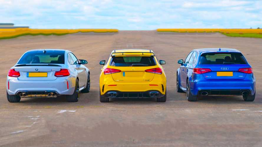 Tuned Audi RS3 takes on BMW M2 CS and AMG A45 S in drag race