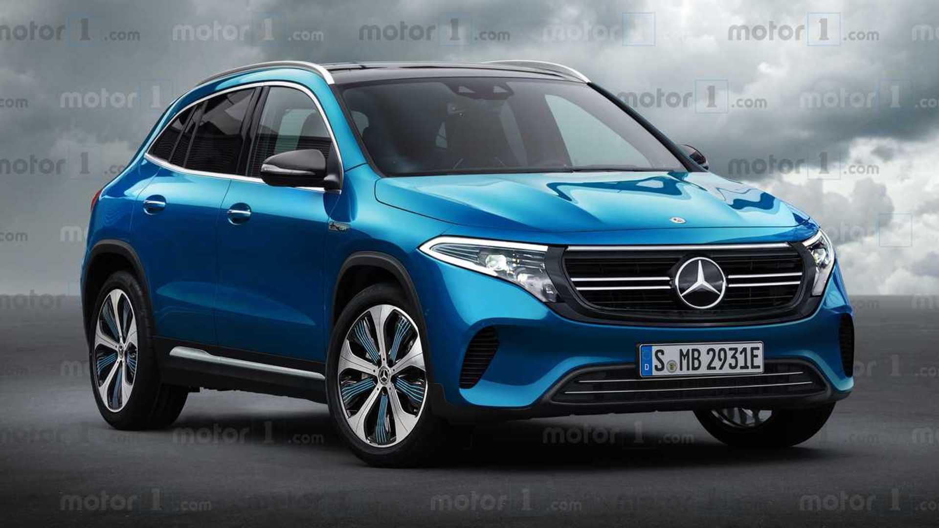 Mercedes-Benz EQA 2021: SUV elétrico tem visual antecipado em projeção