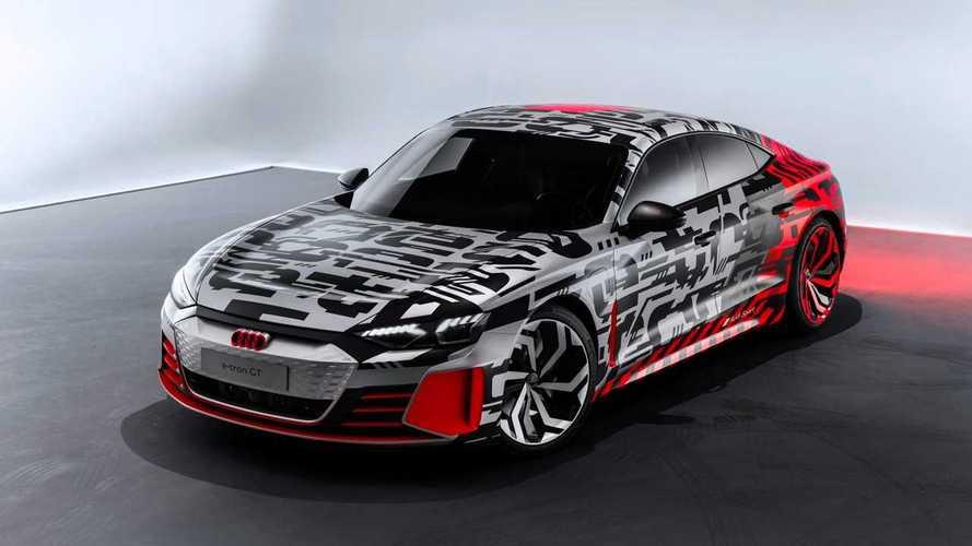 Audi e-tron GT Concept Shows Up In Camo