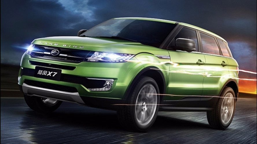 Land Rover denuncia i cinesi per la copia dell'Evoque