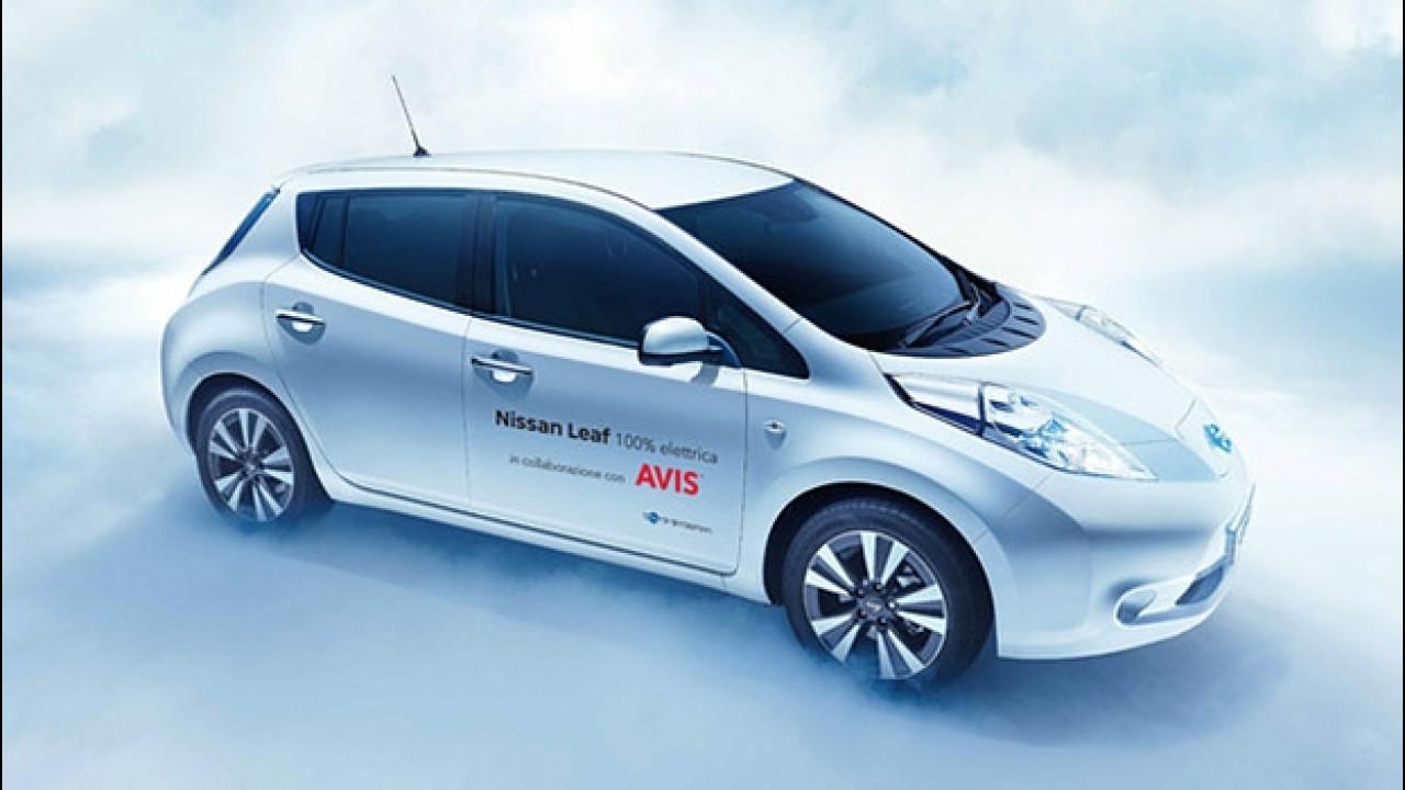 [Copertina] - Nissan Leaf, l'elettrica si noleggia con Avis