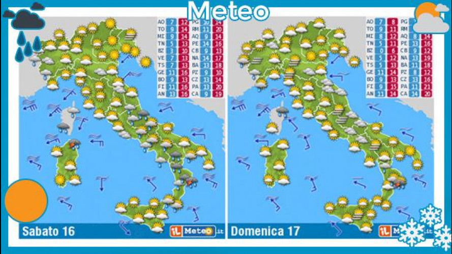 Meteo del fine settimana 16 e 17 novembre 2013