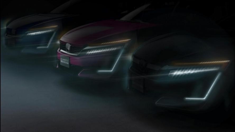 Honda Clarity, l'elettrica e la plug-in debuttano a New York