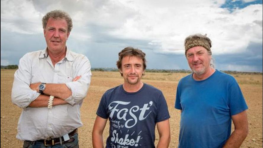 Jeremy Clarkson con James May e Richard Hammond per un live tour