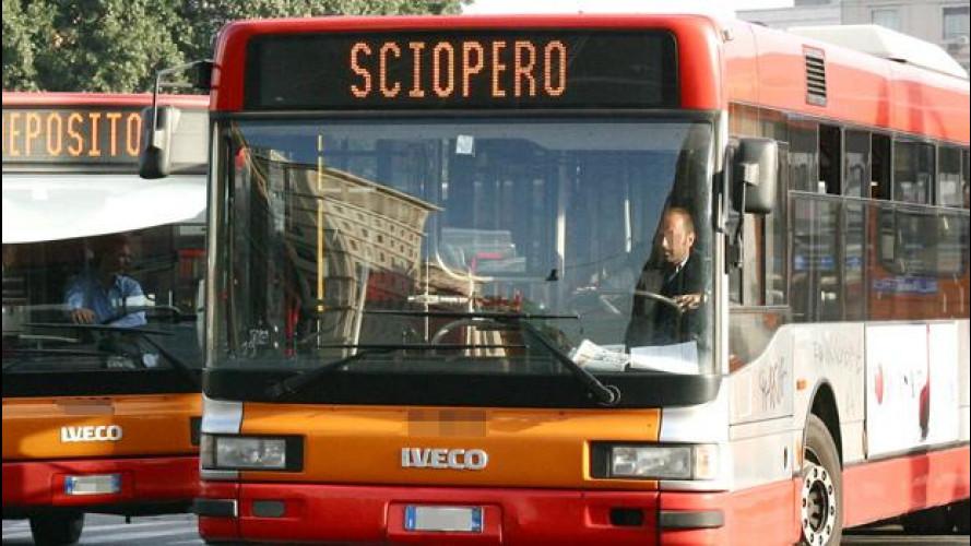 Sciopero a Roma, il 22 marzo stop di 24 ore per i mezzi pubblici