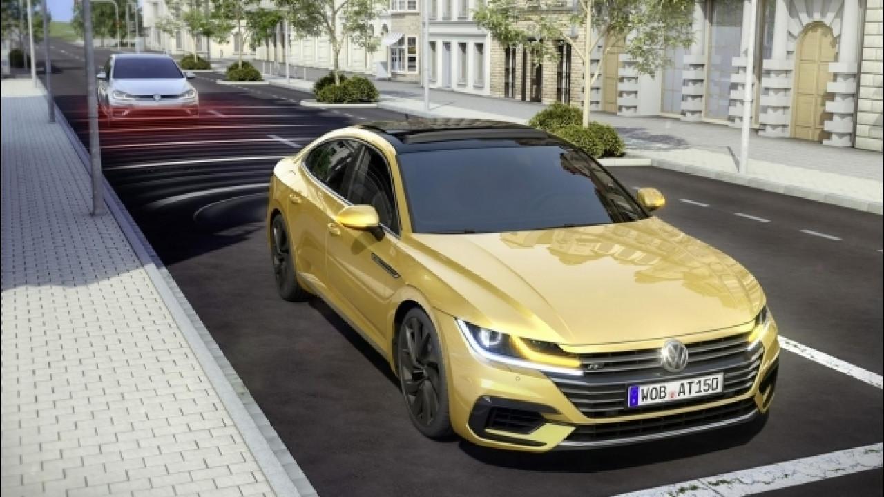 [Copertina] - Volkswagen Arteon, il sistema Pre-Crash è di serie