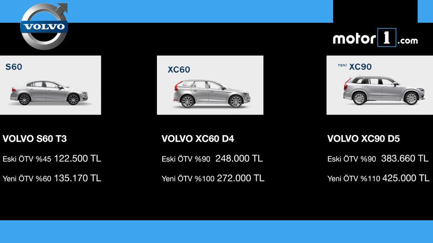 ÖTV'den etkilnen VOLVO modelleri