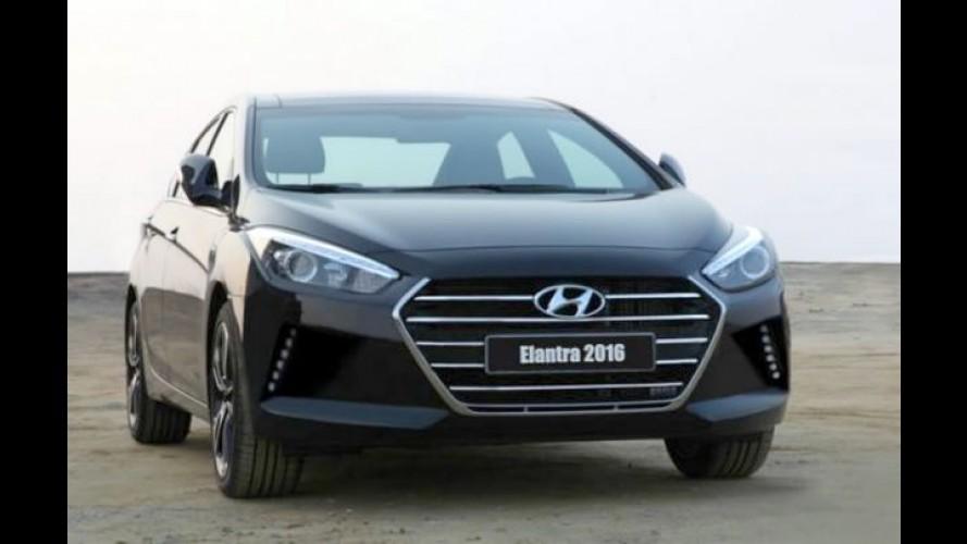 Hyundai Elantra 2016 estreia em novembro no Salão de Los Angeles