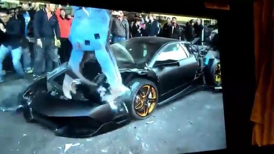 Lamborghini Murcielago détruite à Taïwan