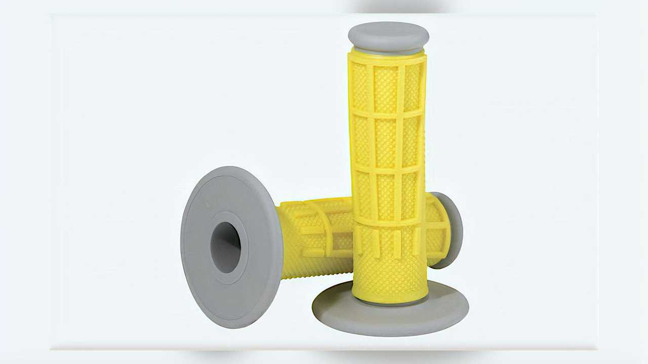 Moose Racing Competition Waffle Grips - Yellow