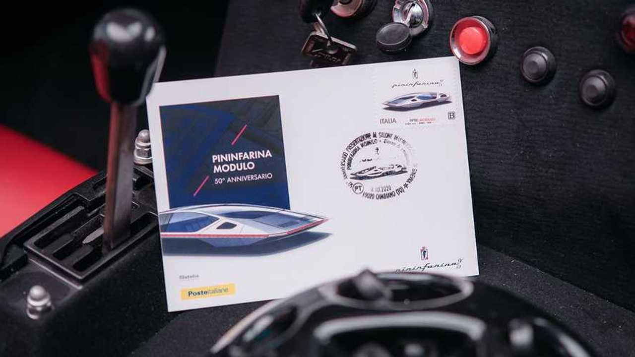 Pininfarina Modulo On Stamp Inside The Car