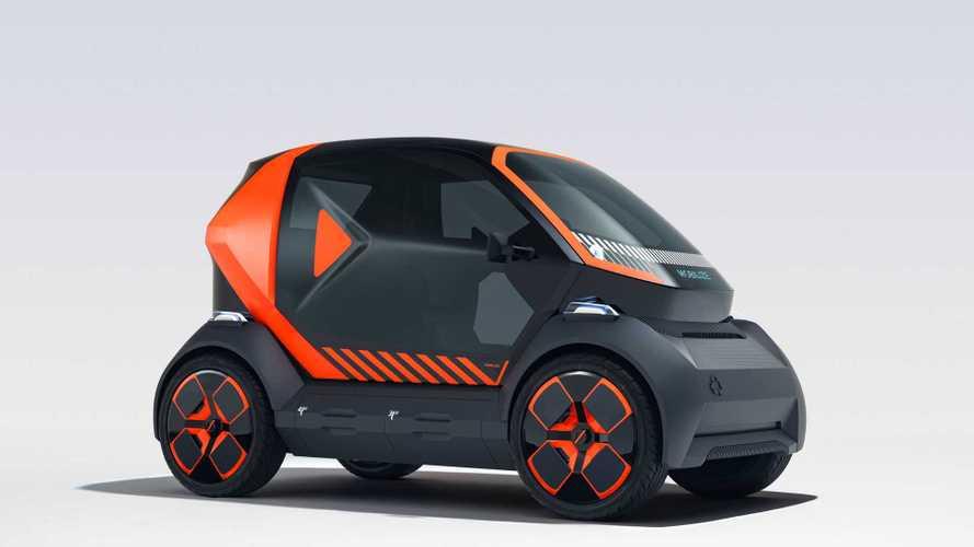Renault revela carro elétrico para compartilhamento 95% reciclável