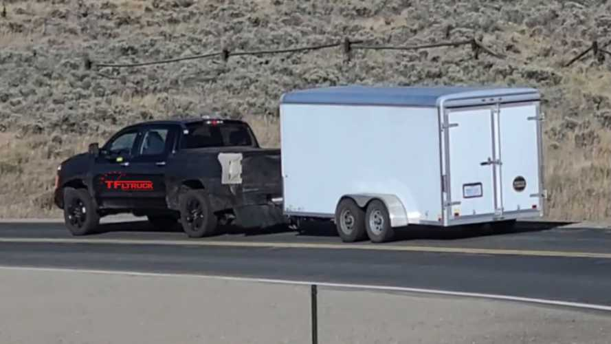 Next-Gen Toyota Tundra Spied On Curvy Roads Towing Trailer