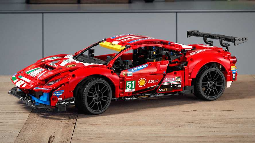 Ferrari 488 GTE gets 1,677-piece Lego Technic treatment