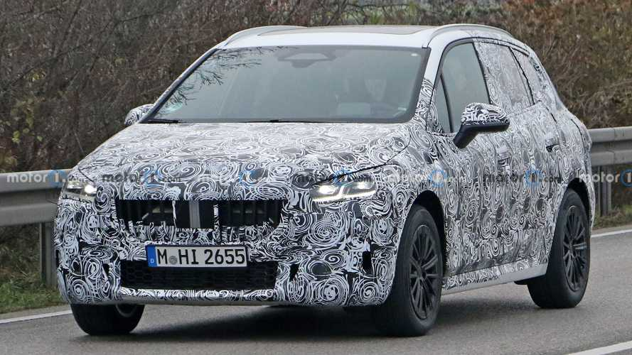 2021 BMW 2 Series Active Tourer MPV spied with less camo