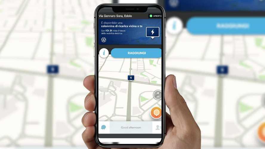 Colonnine di ricarica, Waze le mappa grazie a Volkswagen