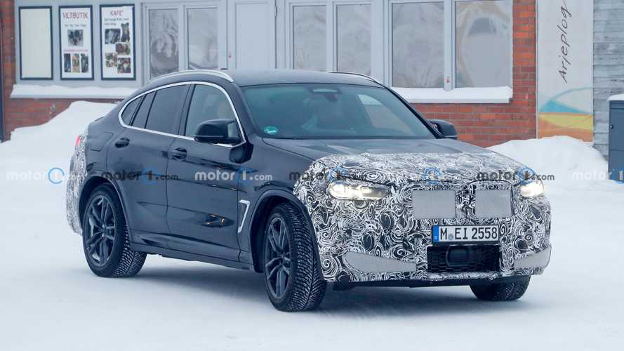 2022 BMW X4 M facelift spy photos