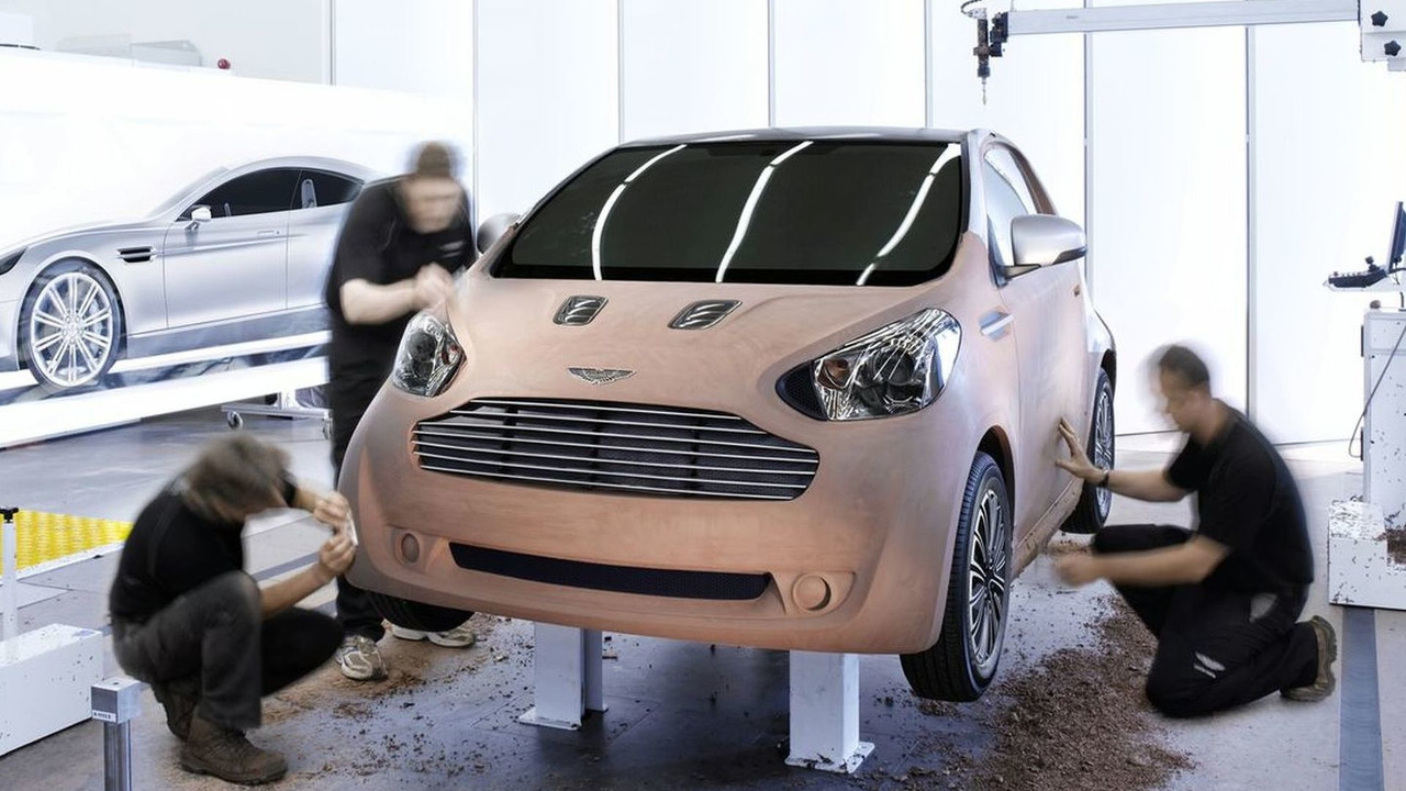 Aston Martin Cygnet Luxury Commuter Concept Car Teaser Photo. Based on the