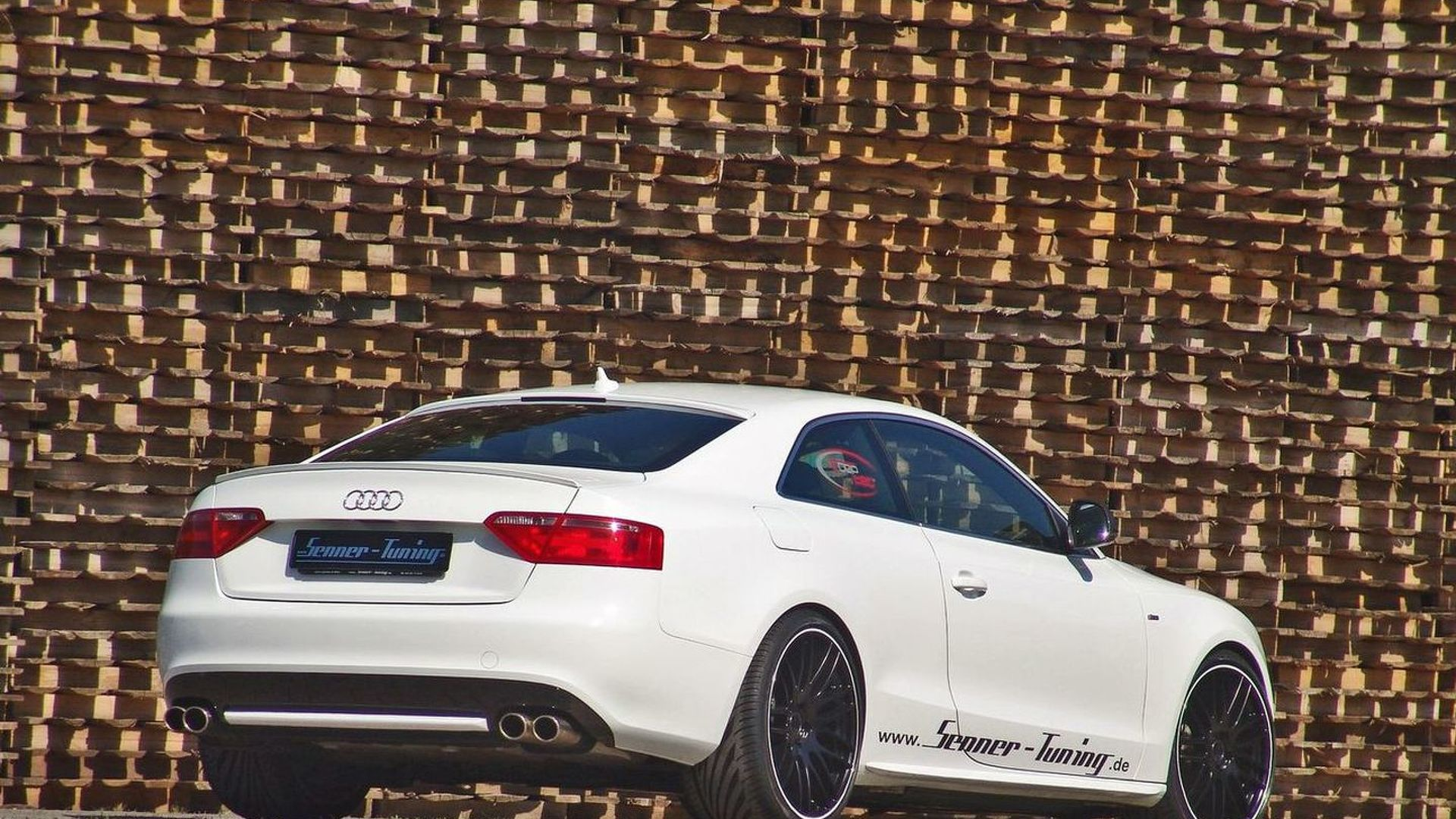 Senner Tuning Creates Audi A Black And White - White audi a5