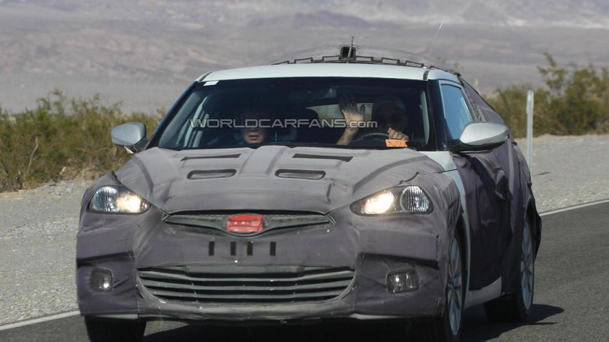 Hyundai Veloster spied inside and out