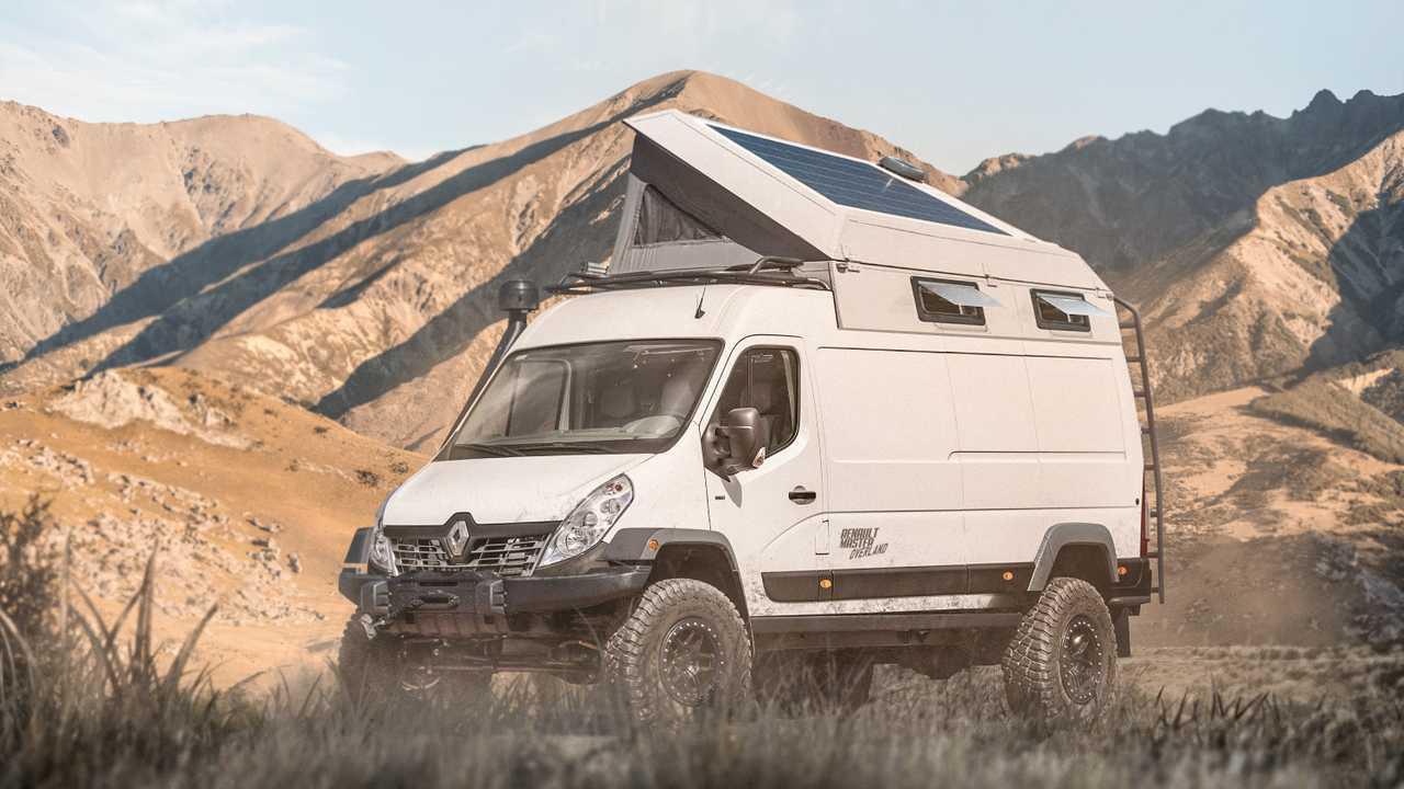 Renault Master Overland Campervan rendering