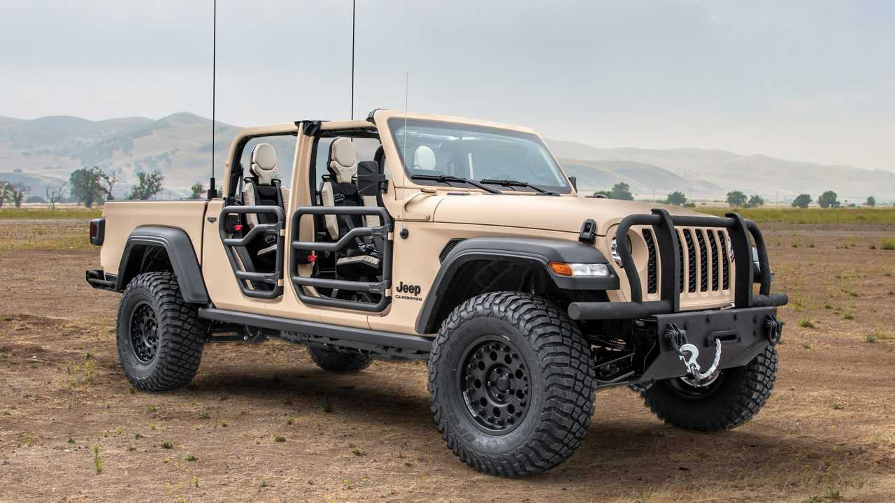 Jeep Gladiator Preps For Battle As Military Concept From ...
