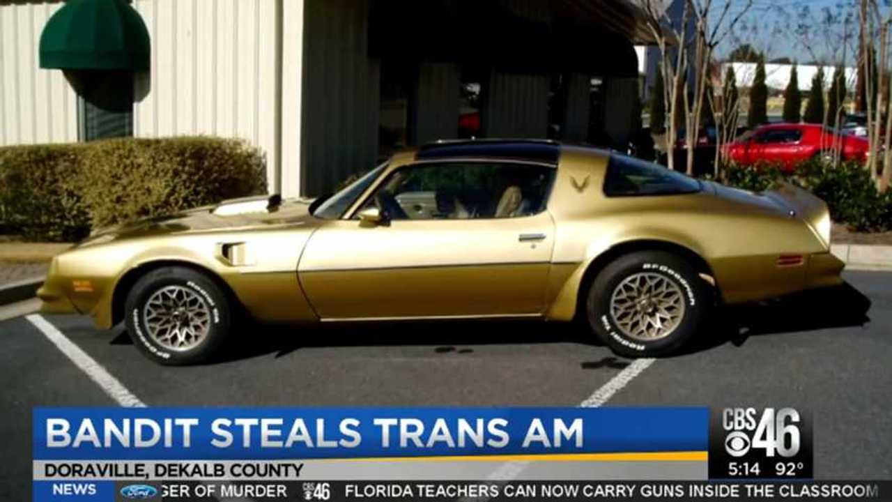1978 Pontiac Trans Am Stolen In Georgia