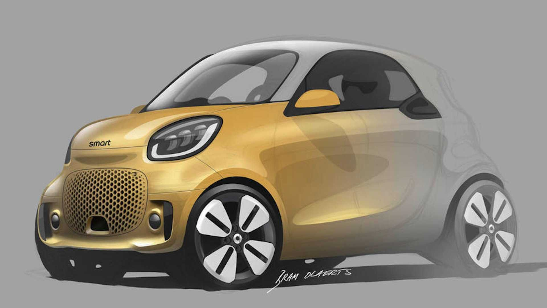 5 Smart Fortwo, Forfour EQ Teasers Preview Pure Electric Future