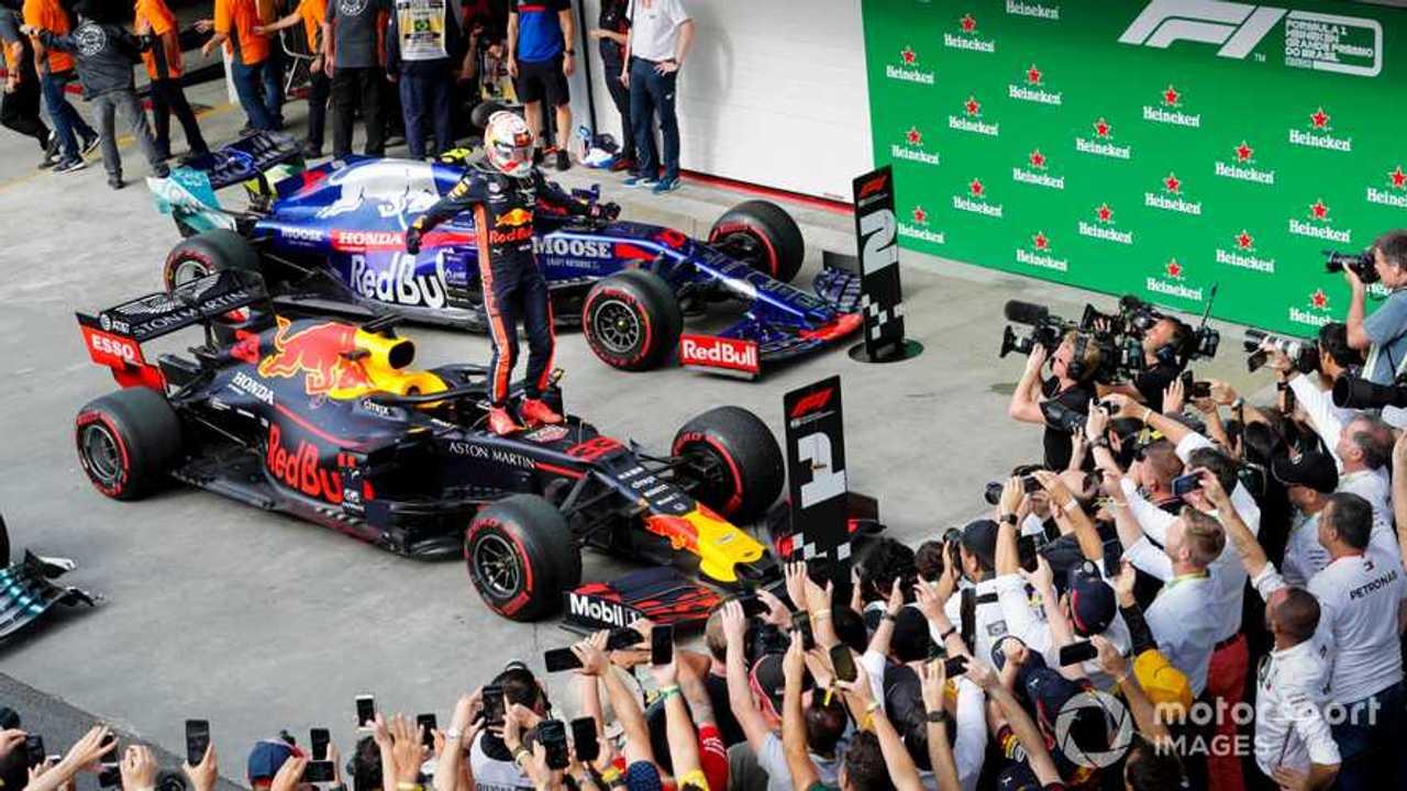 Race winner Max Verstappen at Brazilian GP 2019