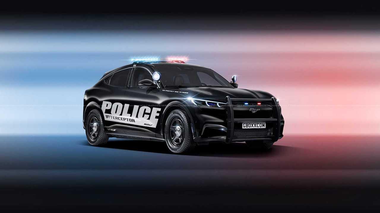 Ford Mustang Mach-E Police Interceptor Rendering by Aksyonov Nikita