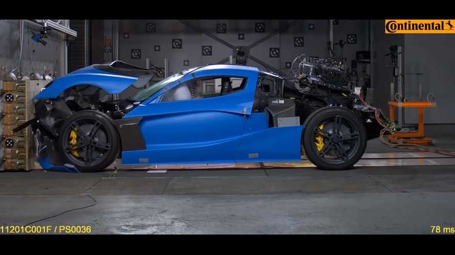 Rimac C_Two crash test footage is brutal, scientific and brilliant