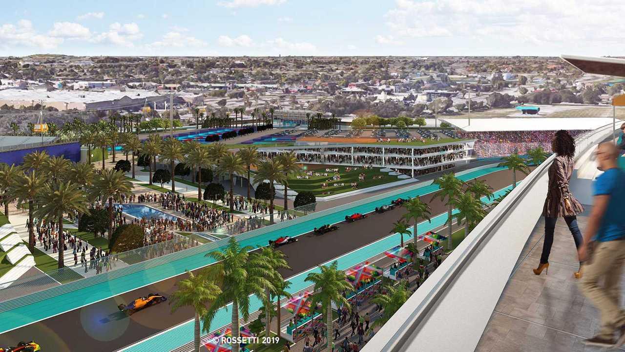 Miami GP track illustration