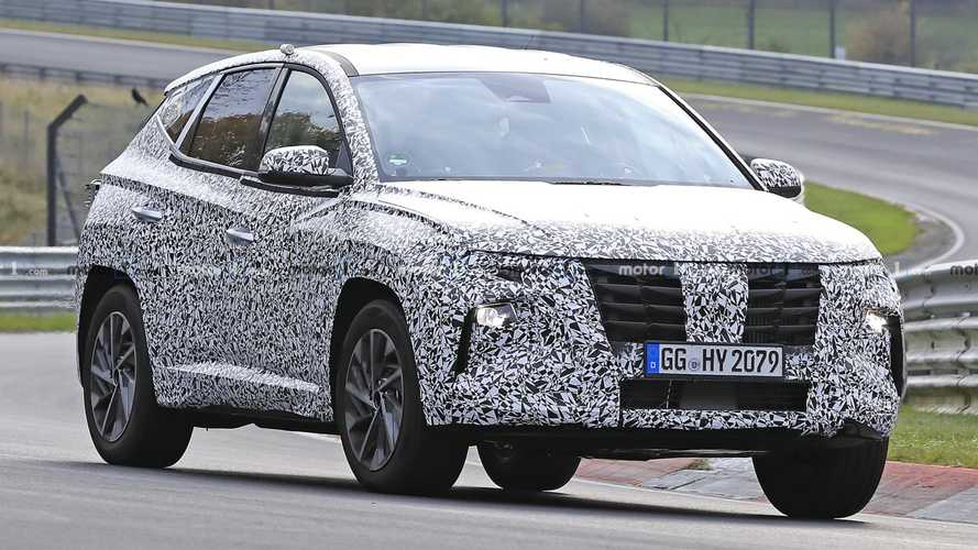 2021 Hyundai Tucson spied lapping the Nurburgring