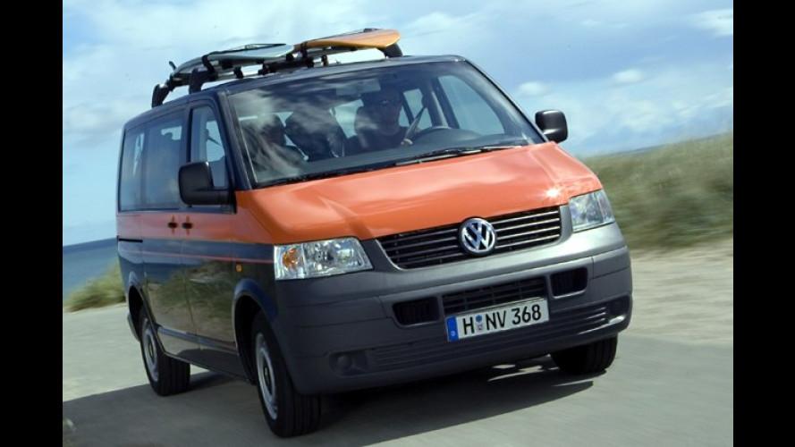 VW Multivan Beach und Caddy Tramper: Premieren für Reisefans