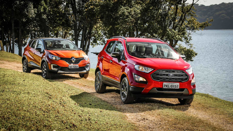 Comparativo Ford EcoSport Freestyle 1.5 x Renault Captur Intense 1.6 - Apostas opostas