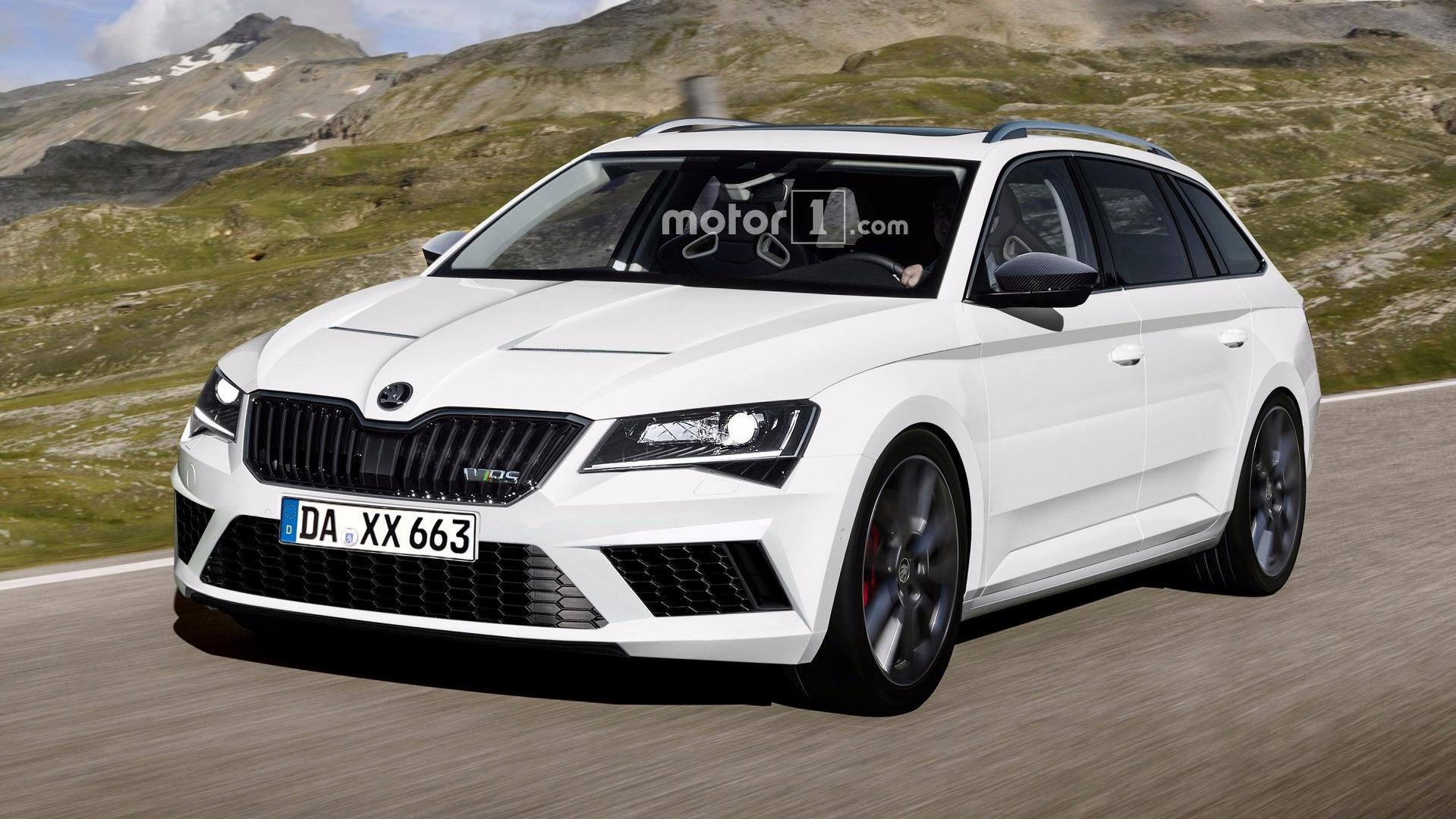 Skoda Superb Rs Double Trouble Hatch And Wagon Rendered