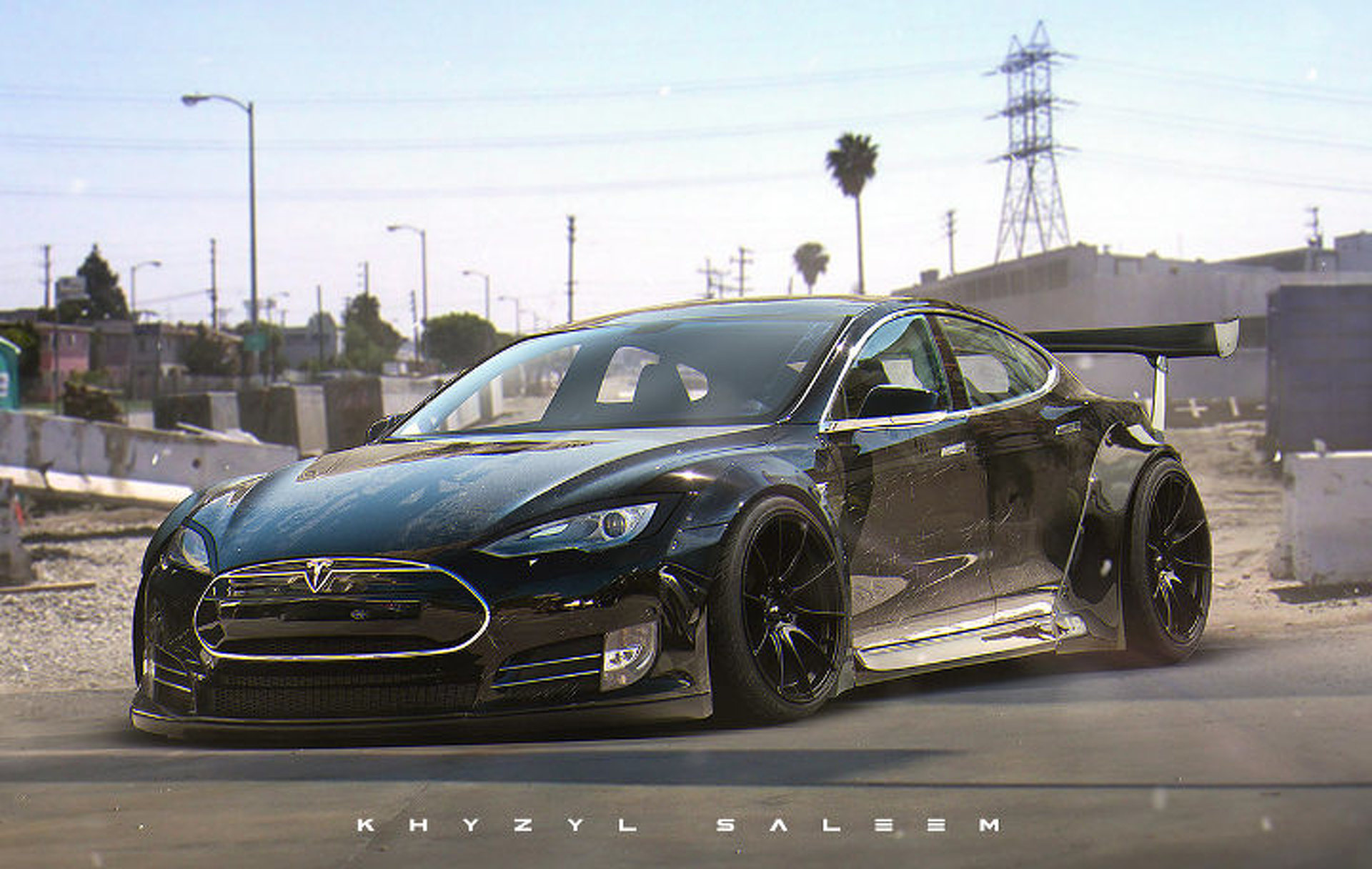 Tesla Model S Custom >> This Custom Tesla Model S Liberty Walk Needs To Happen