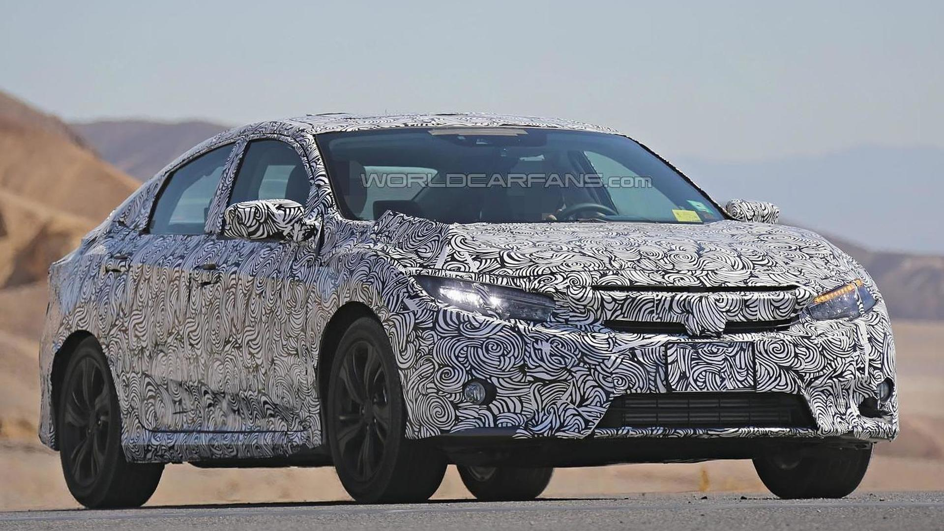 2017 Honda Civic Spied Inside And Out With Full Led Headlights Heated Rear Seats 45 Pics