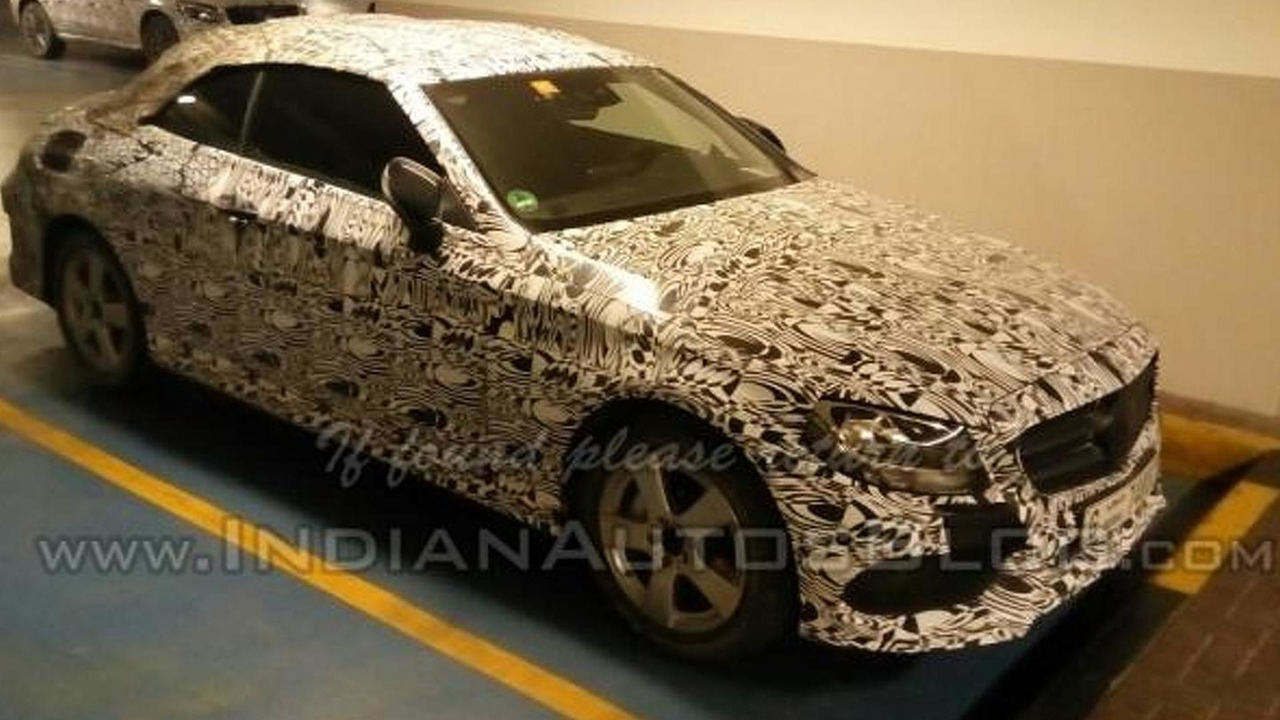 2016 Mercedes-Benz C-Class Convertible spy photo / IndianAutosBlog