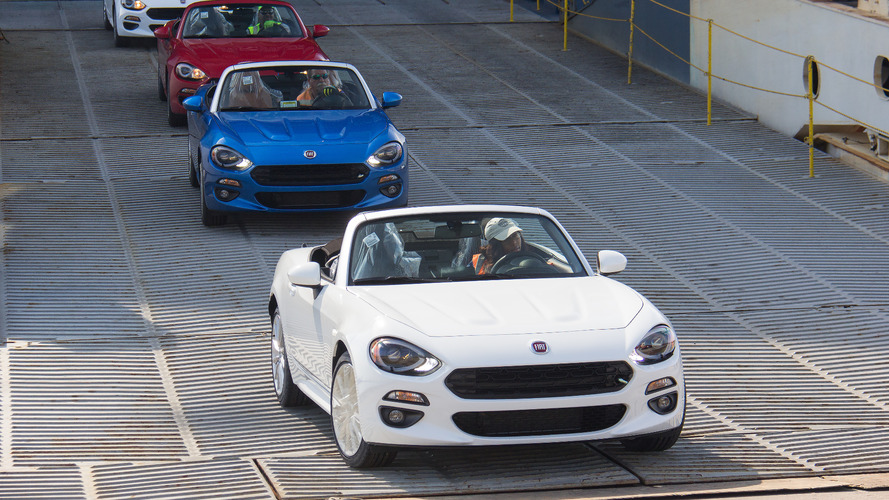 2017 Fiat 124 Spiders arrive in U.S. starting at $24,995